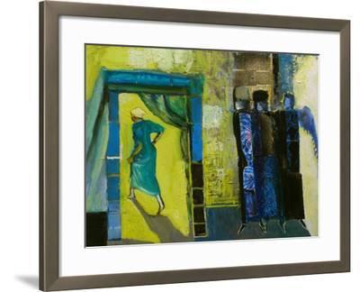 Sarah and the Three Angels, 1998-Richard Mcbee-Framed Giclee Print