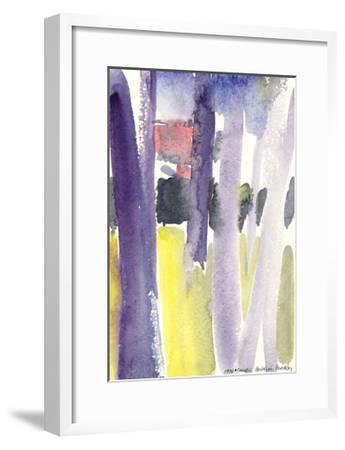 Trees in a Garden, 1997-Claudia Hutchins-Puechavy-Framed Giclee Print
