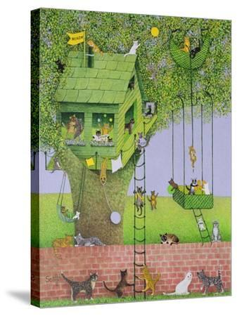 Cat Tree House-Pat Scott-Stretched Canvas Print