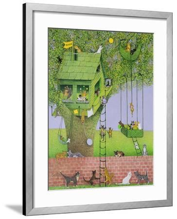 Cat Tree House-Pat Scott-Framed Giclee Print
