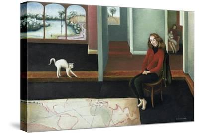 Map Study-Caroline Jennings-Stretched Canvas Print