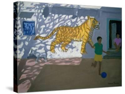 Tiger, India-Andrew Macara-Stretched Canvas Print