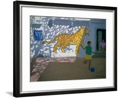 Tiger, India-Andrew Macara-Framed Giclee Print