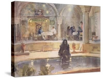In the Teahouse, Kerman-Trevor Chamberlain-Stretched Canvas Print