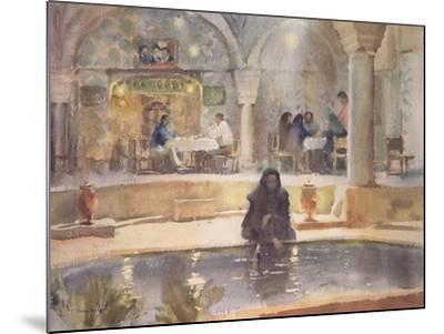 In the Teahouse, Kerman-Trevor Chamberlain-Mounted Giclee Print