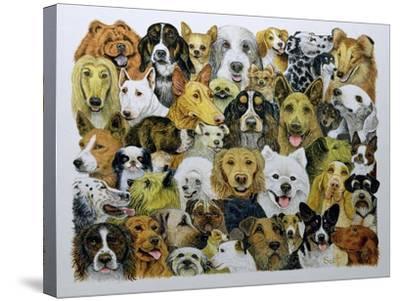Dog Friends-Pat Scott-Stretched Canvas Print
