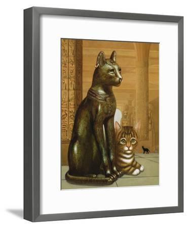 Mike the British Museum Kitten, 1995-Frances Broomfield-Framed Giclee Print