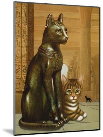 Mike the British Museum Kitten, 1995-Frances Broomfield-Mounted Giclee Print