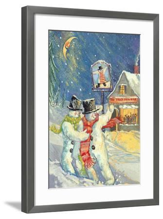 The Jolly Snowman-David Cooke-Framed Giclee Print