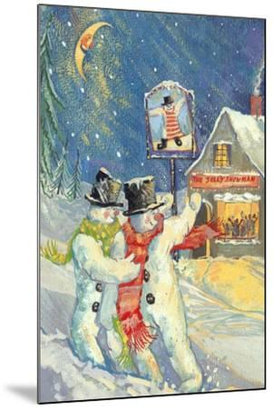 The Jolly Snowman-David Cooke-Mounted Giclee Print