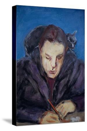 The Homework-Julie Held-Stretched Canvas Print