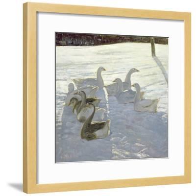 Geese Against the Light-Timothy Easton-Framed Giclee Print