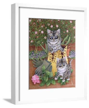 Garden Helpers-Pat Scott-Framed Giclee Print