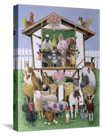 Animal Playhouse-Pat Scott-Stretched Canvas Print