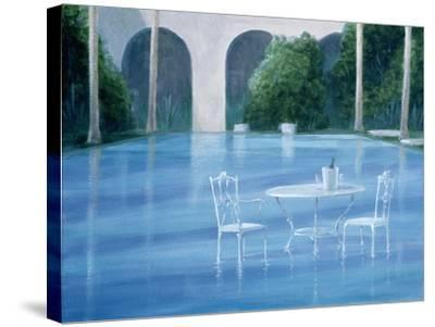 Shallow End-Lincoln Seligman-Stretched Canvas Print