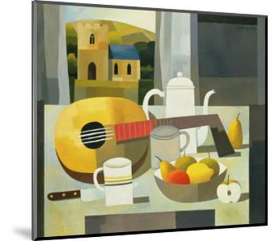 Still Life with Mandolin, 1999-Reg Cartwright-Mounted Giclee Print