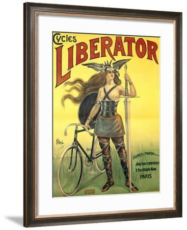 Poster Advertising 'Cycles Liberator' from Pantin, Printed by Kossoth Et Cie, Paris-Pal-Framed Giclee Print