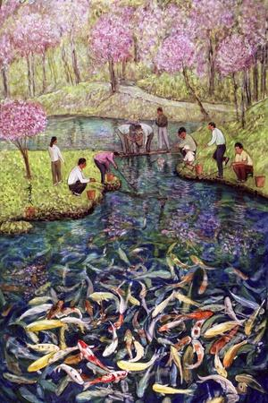 Fishing, 1996-Komi Chen-Stretched Canvas Print