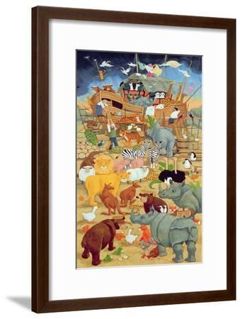 Building Noah's Ark-Linda Benton-Framed Giclee Print