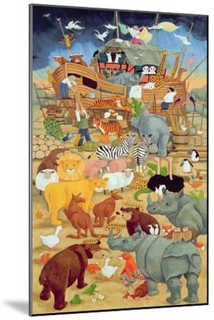 Building Noah's Ark-Linda Benton-Mounted Giclee Print