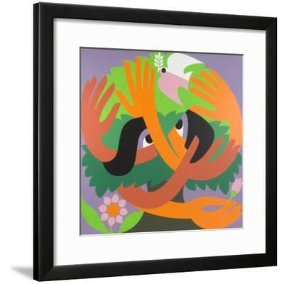 Bird Watchers, 1973-Ron Waddams-Framed Giclee Print
