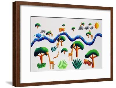 Jungle River, 2002-Julie Nicholls-Framed Premium Giclee Print