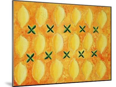 Lemons, 2004-Julie Nicholls-Mounted Premium Giclee Print