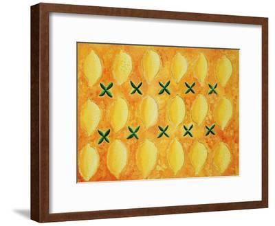 Lemons, 2004-Julie Nicholls-Framed Premium Giclee Print