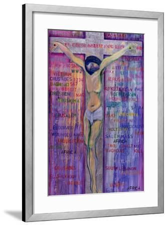 Thou Shalt Not Kill, 2000-Laila Shawa-Framed Giclee Print