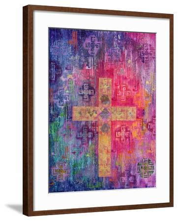 Eastern Cross, 2000-Laila Shawa-Framed Giclee Print