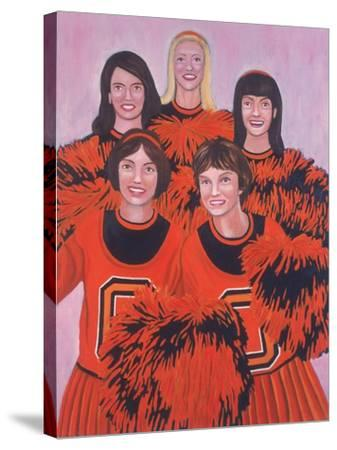 Oregon State Cheerleaders, 2002-Joe Heaps Nelson-Stretched Canvas Print