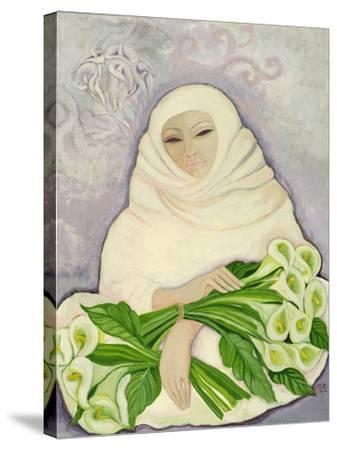 The Lily Seller, 1989-Laila Shawa-Stretched Canvas Print