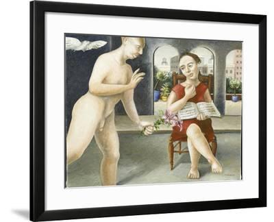 Portico Annunciation, 2005-Caroline Jennings-Framed Giclee Print