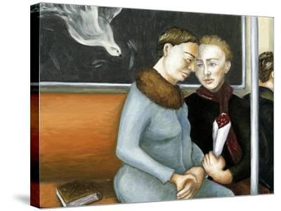 Subway Annunciation, 2006-Caroline Jennings-Stretched Canvas Print