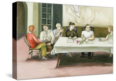 Annunciation at Table, 2006-Caroline Jennings-Stretched Canvas Print