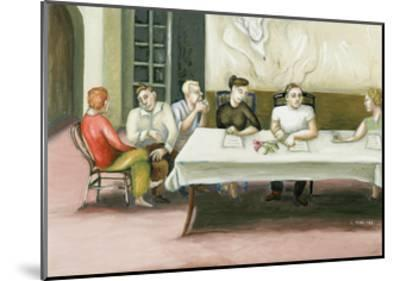 Annunciation at Table, 2006-Caroline Jennings-Mounted Giclee Print