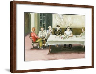 Annunciation at Table, 2006-Caroline Jennings-Framed Giclee Print