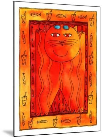 Sunbathing Cat, 1999-Julie Nicholls-Mounted Giclee Print