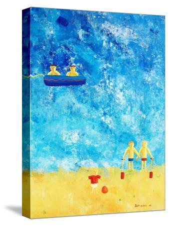 The Beach, 2002-Julie Nicholls-Stretched Canvas Print