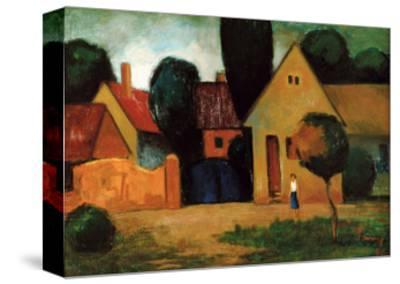 Blue Gate, C.1960-Emil Parrag-Stretched Canvas Print