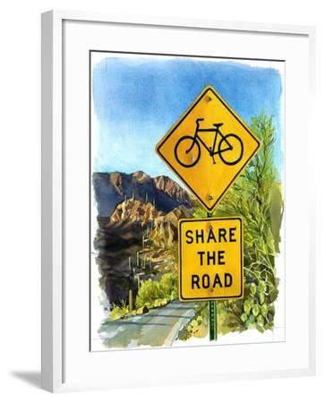 Share the Road, Gates Pass, 2004-Lucy Masterman-Framed Giclee Print
