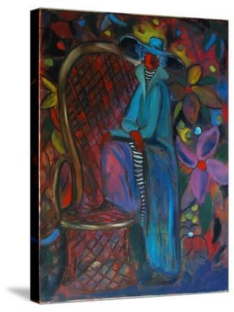 Lady in Blue, 2003-Sabina Nedelcheva-Williams-Stretched Canvas Print