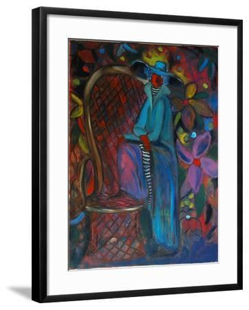 Lady in Blue, 2003-Sabina Nedelcheva-Williams-Framed Giclee Print