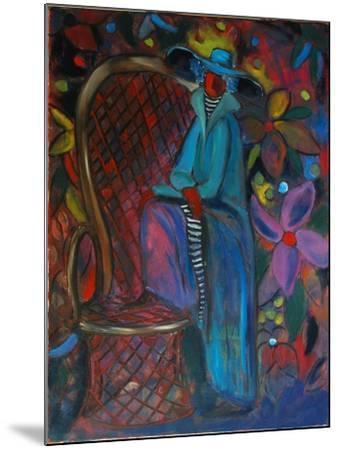 Lady in Blue, 2003-Sabina Nedelcheva-Williams-Mounted Giclee Print