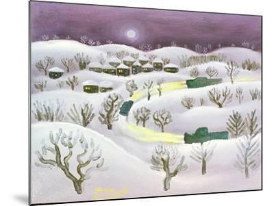 Winter Night, 1971-Radi Nedelchev-Mounted Giclee Print