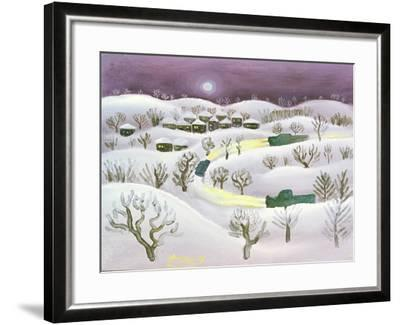 Winter Night, 1971-Radi Nedelchev-Framed Giclee Print