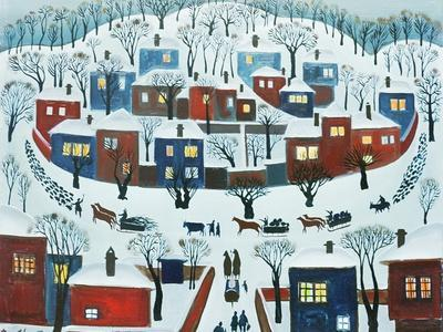 Winter Village, 1969-Radi Nedelchev-Framed Giclee Print