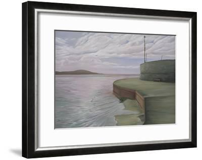 Sea Wall at Weston Looking Towards Breen Down, 2006-Peter Breeden-Framed Giclee Print