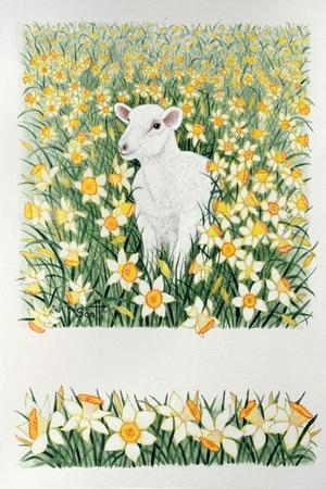 A Spring in the Step-Pat Scott-Stretched Canvas Print