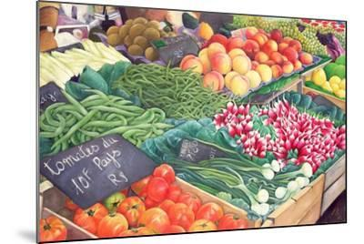 Market Stall, 1999-Peter Breeden-Mounted Giclee Print